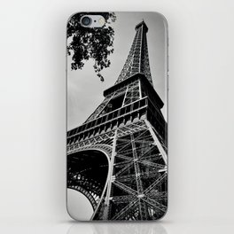 Eiffel Tower- Black and White iPhone Skin