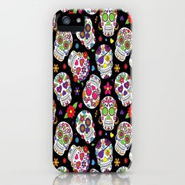 Colorful Sugar Skulls iPhone Case