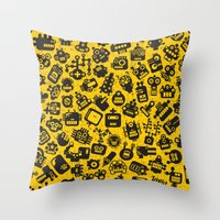 talking heads Throw Pillows featuring Heads. by panova