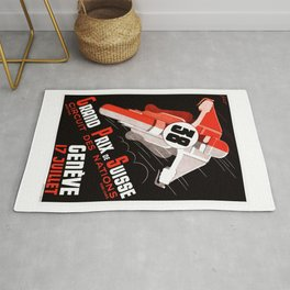 1938 Swiss Grand Prix Motorcycle Race Poster Rug
