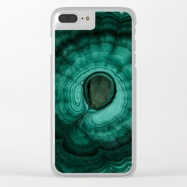 Earth treasures - Malachite Clear iPhone Case