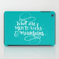 pride and prejudice iPad Cases featuring Quote from Pride and Prejudice by Cat & Mouse