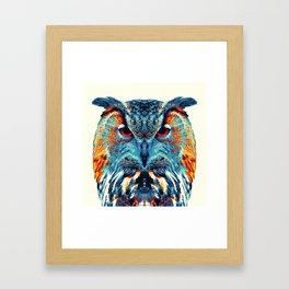 Owl - Colorful Animals Framed Art Print