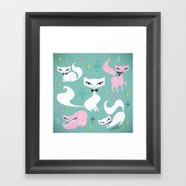 Swanky Kittens Framed Art Print