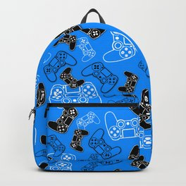 Video Games Blue Backpack