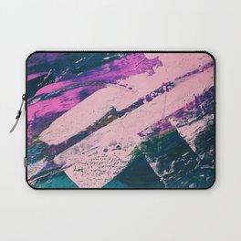 Wonder. - A vibrant minimal abstract piece in jewel tones by Alyssa Hamilton Art Laptop Sleeve