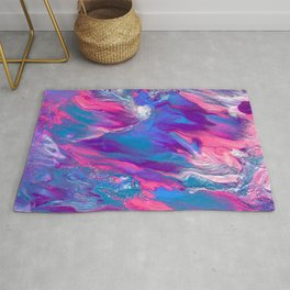 Cosmic Cupcake V2 - A Sparkly and Colorful Fluid Painting Rug
