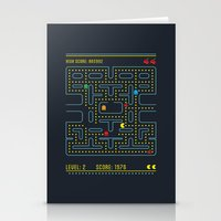 pacman Stationery Cards featuring Pacman by Virbia