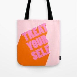 Treat Yourself | Peach Tote Bag
