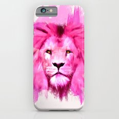 A pink lion looked at me iPhone 6s Slim Case