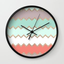 AVALON CORAL MINT Wall Clock