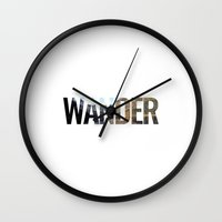 wander Wall Clocks featuring WANDER by Christel Sayegh