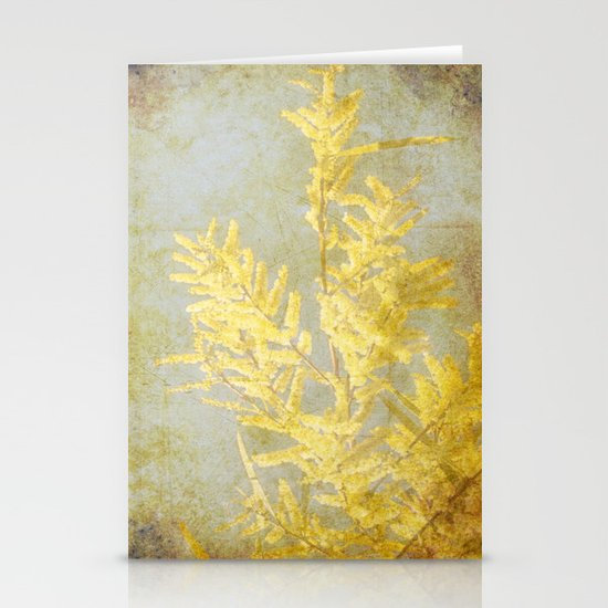 Golden Wattle Stationery Cards