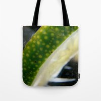 lime Tote Bags featuring Lime! by creations by Cinnamon