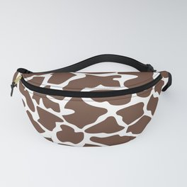 Animal Print (Giraffe Pattern) - Brown White Fanny Pack