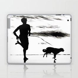 B&W Beach Scene 3 Laptop & iPad Skin
