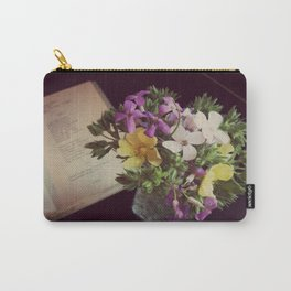 Reading Emily Dickinson with Flowers Carry-All Pouch
