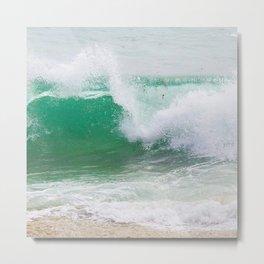 Rushing Wave Metal Print