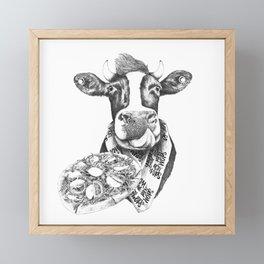 Picky Moo Framed Mini Art Print