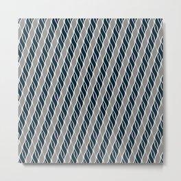 Gray and Black Stripes Metal Print