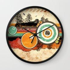Retro Mash Up. Wall Clock