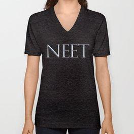 NEET Roman Chiseled Type - Black Unisex V-Neck