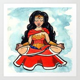 Meditating Wonder Femme Art Print
