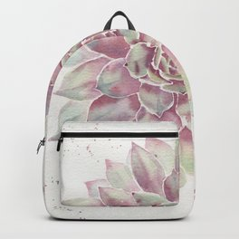 Big Succulent Watercolor Backpack