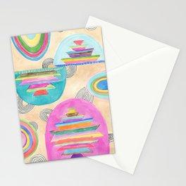 Rainbow Pagodas Stationery Cards