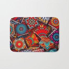 V1 Traditional Moroccan Colored Stones. Bath Mat