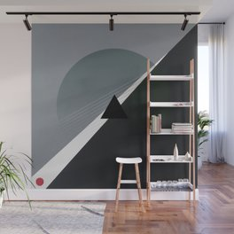 London - triangle/circle graphic Wall Mural