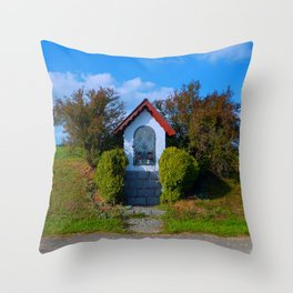Wayside shrine in summertime II   architectural photography Throw Pillow