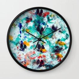 monotype print Wall Clock