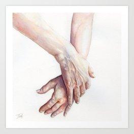 Watercolour Handstudy Art Print