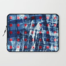 dots on blue ice Laptop Sleeve