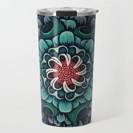 Abstract Floral Mandala Travel Mug