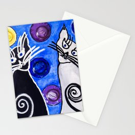 Bubble Cats Stationery Cards