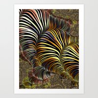 striped Art Prints featuring Striped by Amanda Moore