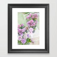 Purple Lavender Hydrangeas Romantic Floral Prints and Home Decor Framed Art Print