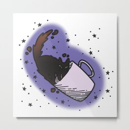 Tortie Tea Metal Print