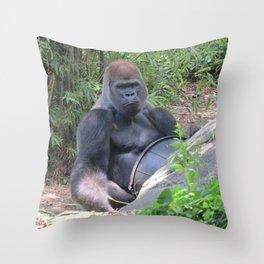 Gorilla Says Throw Pillow