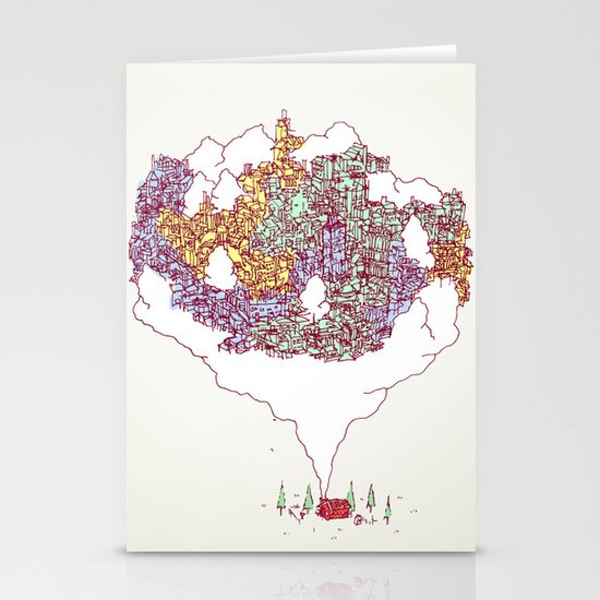 City in the Middle of Nowhere Stationery Cards