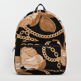 GOLDEN CHAIN COPPER PATTERN Backpack