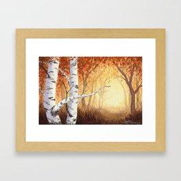 Autumn Birches Framed Art Print