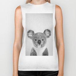 Baby Koala - Black & White Biker Tank