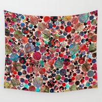 polka dot Wall Tapestries featuring Bright polka dot(3). by Mary Berg