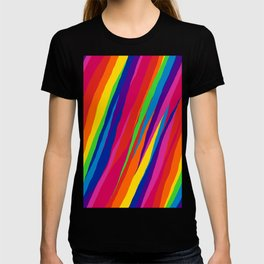 Wonky Rainbow Stripes T-shirt