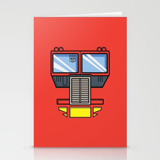 Transformers - Optimus Prime Stationery Cards
