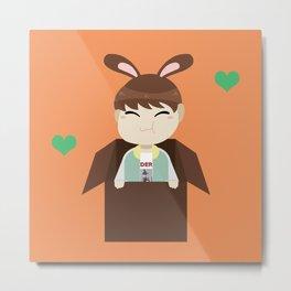 Seventeen Kpop - Bunny Hoshi Metal Print