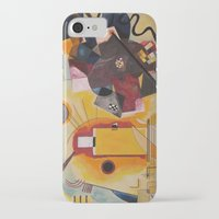 kandinsky iPhone & iPod Cases featuring Wassily Study Repro yellow red blue 1925  by Christine baessler